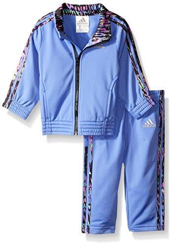 中亚prime会员、限尺码: adidas 阿迪达斯 女童针织夹克裤子套装 70.91元