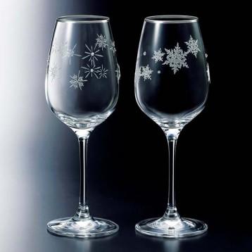 送礼首选!NARUMI 鸣海 GW4065-63393A 高脚玻璃葡萄酒杯 雪花星星一对组合 340cc 亚马逊海外购 9.1折 直邮中国 ¥268.65
