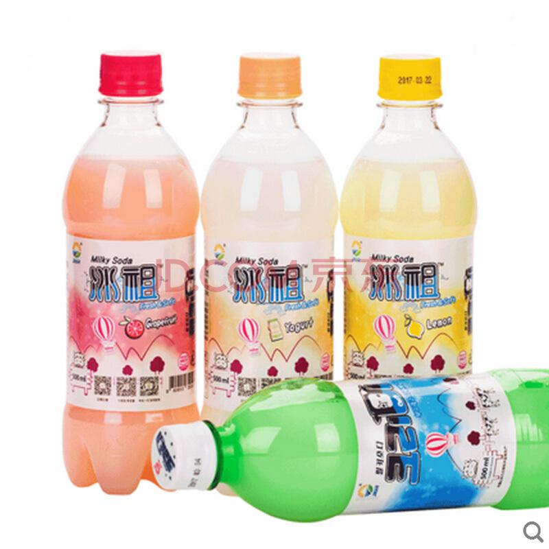 ¥16.45 九日(jiur)九日冰祖进口饮品雪碧牛奶苏打汽水milkis碳酸饮料批发500ml*4瓶