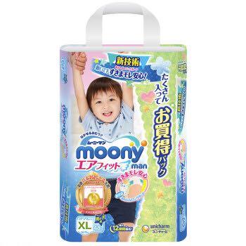 moony 尤妮佳 婴儿拉拉裤 XL48片 67.35元