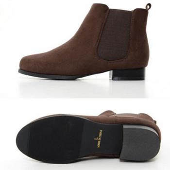 网易考拉海购 Re:EDIT 女士时尚绒面圆头低跟切尔西靴短靴169元包邮 黑五同价提前购
