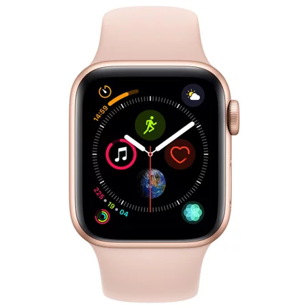 苹果(Apple) Apple Watch Series 4 智能手表(粉砂铝金属、GPS、40mm、运动表带) ¥2938