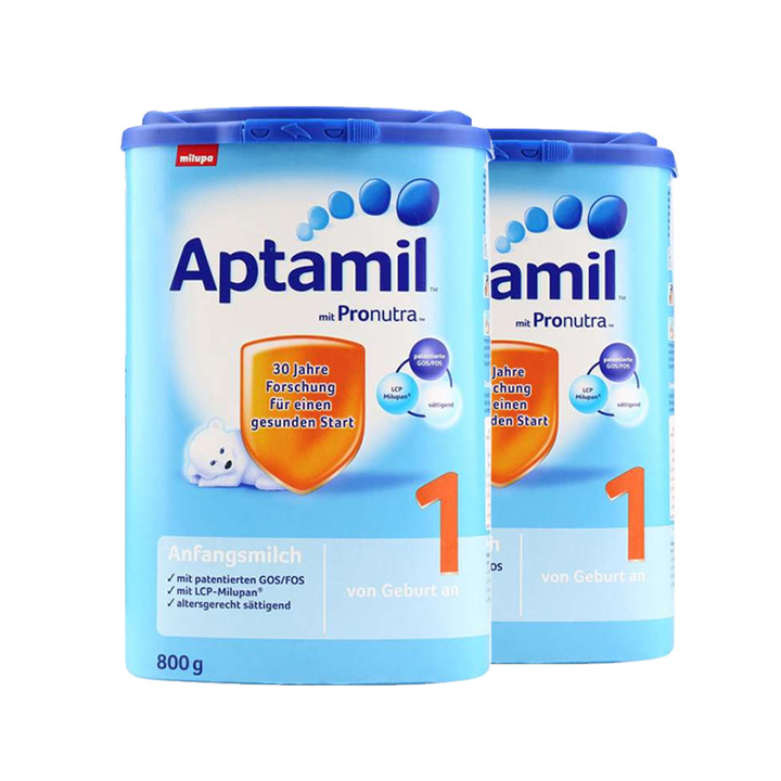Aptamil 爱他美 Pronutra 婴儿配方奶粉 1段 800g *2件 限时购 189元包税包邮 合94.5元/罐