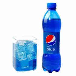 ¥15.8 巴厘岛进口百事可乐blue蓝色可乐饮料梅子味碳酸饮料网红饮料瓶装450ml*1瓶