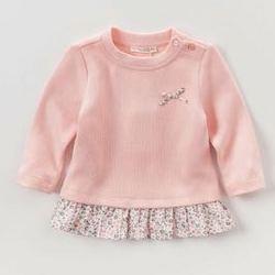 ¥39 davebella戴维贝拉2017秋装女童裙式上衣 女宝宝纯棉T恤 TS YK