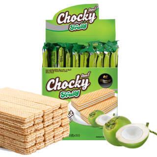 CHOCKY 比斯奇果屋巧客威化饼夹心 椰子味 10g*30 9.9元