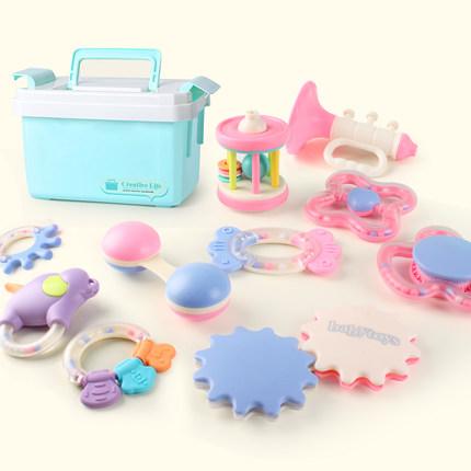 仙邦宝贝 婴儿玩具牙胶摇铃套装 10件套 48元包邮 双12预告!