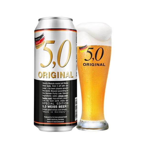 5.0 自然浑浊型 小麦白啤酒500ml*24听 畅享世界限量版 99元包邮