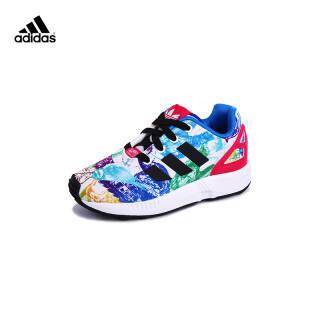 阿迪达斯S76314 儿童鞋轻便舒适运动鞋婴童男女童彩色三叶草 22码 229元