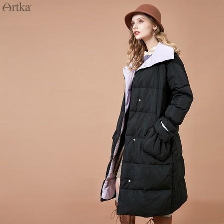 Artka 阿卡 YK10882D 女款百搭长款羽绒服 *3件 1375.35元(合458.45元/件) ¥544