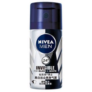 妮维雅(NIVEA) 男士黑白出众爽身气雾 35ml *3件 20.85元(合6.95元/件)