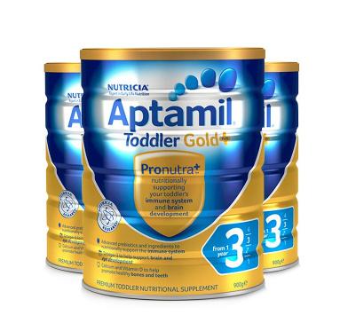 爱他美(Aptamil) 3段 婴儿奶粉 金装 900g*3罐 *2件 ¥734