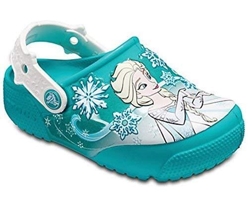¥139到手 仅剩10小时秒杀Crocs中性童时装凉鞋 冰雪公主 土耳其绿 139元