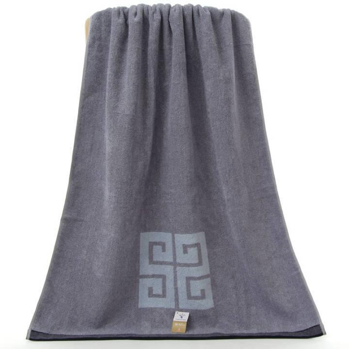 金号毛巾家纺 纯棉浴巾 加厚加大洗澡巾 灰色 150*73cm 480g 54元