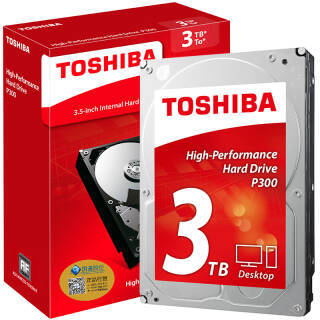 东芝(TOSHIBA) P300系列 7200转 64M SATA3 台式机硬盘 3TB 64MB 499元