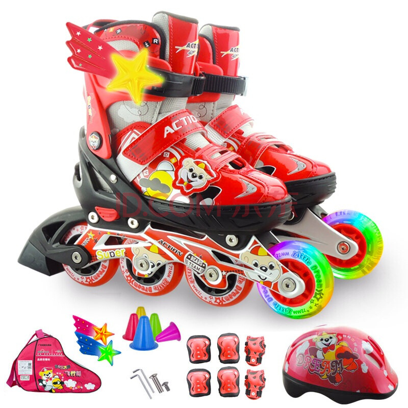 ¥99 ACTION 动感 PW-153 儿童轮滑鞋
