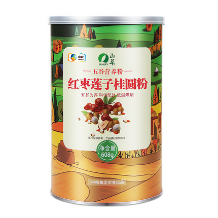 中粮山萃 红枣莲子桂圆粉 608g铁罐装 ¥20