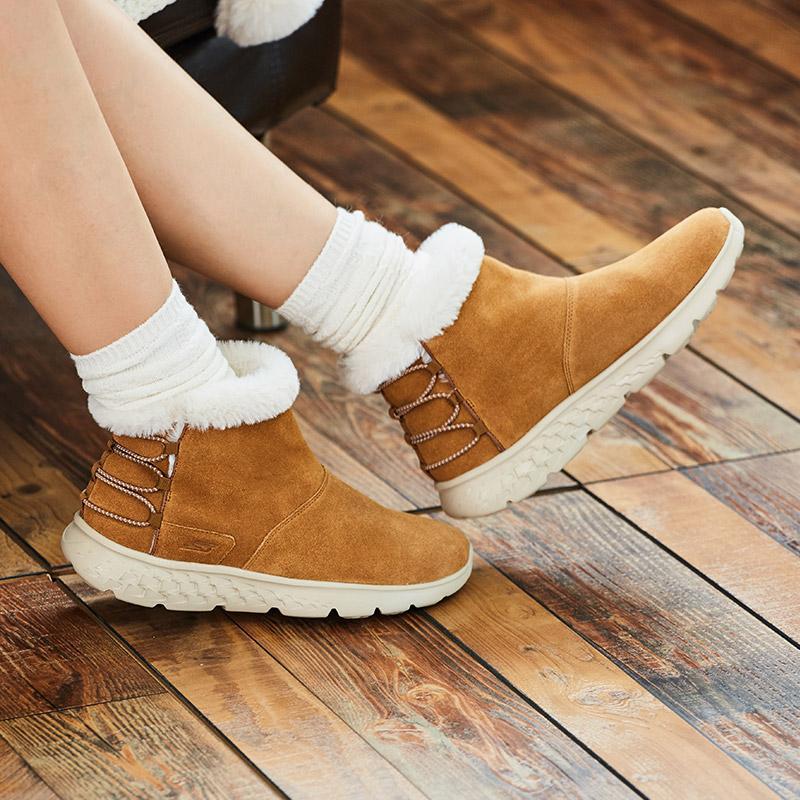¥395 Skechers斯凯奇时尚轻便女靴反毛皮松紧带舒适保暖套脚靴子14404