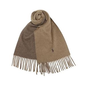 Ralph Lauren拉夫劳伦 小马标双面双色羊毛围巾*2 多色 实付536元包邮补税 美国直邮